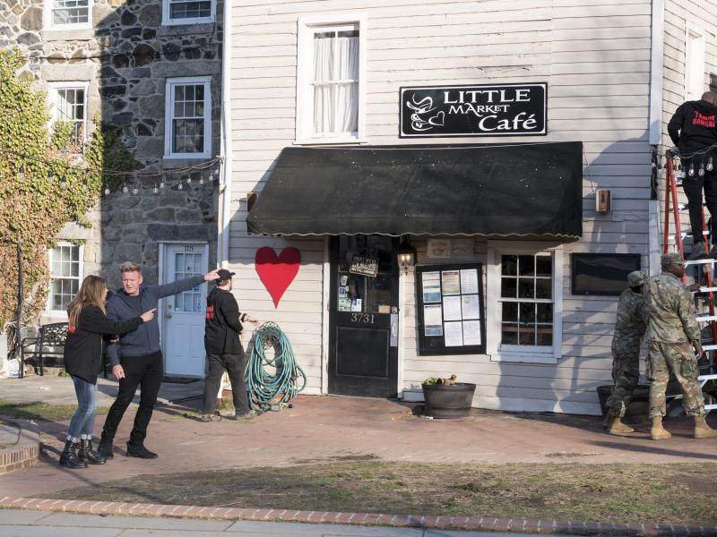 Gordon and crew begin renovations on the Little Market Cafe